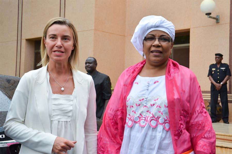 Mogherini Boulama Niger (Credit European Commission)