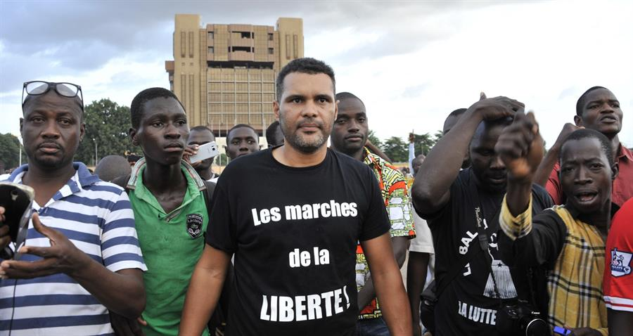 Serge Bambara Smockey Balai Citoyen Getty Images